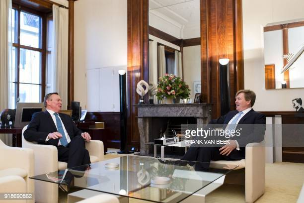 King WillemAlexander of The Netherlands meets with Dutch Minister of Medical Health Bruno Bruins at the Royal Palace Noordeinde in The Hague...