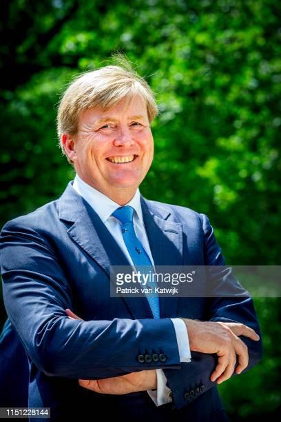 King WillemAlexander of The Netherlands opens the new pavilion at nature park Hoge Veluwe on June 21 2019 in Hoge Veluwe Netherlands