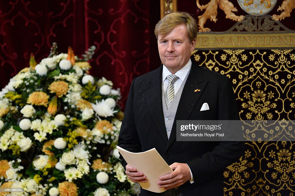 King Willem-Alexander of The Netherlands opens the parliamentary year on September 15, 2015 in The Hague, The Netherlands.