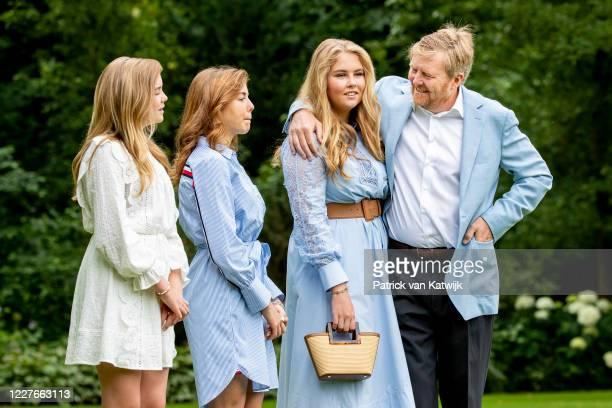 King Willem-Alexander of The Netherlands, Princess Amalia of The Netherlands, Princess Alexia of The Netherlands and Princess Ariane of The...