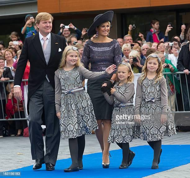 King Willem-Alexander of The Netherlands, Princess Amalia of The Netherlands, Queen Maxima of The Netherlands, Princess Ariane of The Netherlands and...