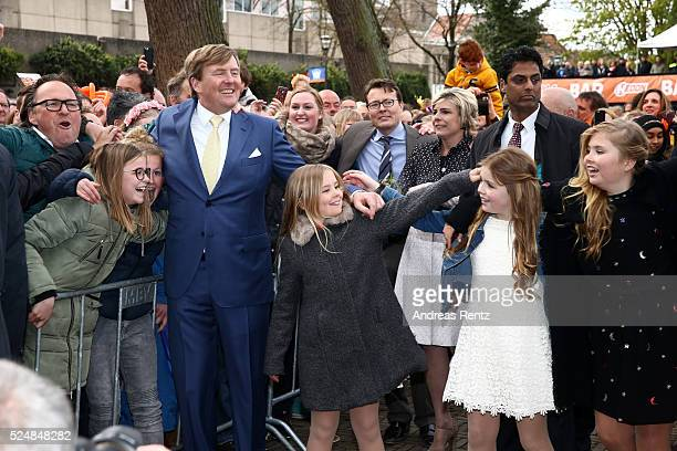 King Willem-Alexander of The Netherlands, Princess Ariane of The Netherlands, Princess Alexia of The Netherlands and Crown Princess Catharina-Amalia...