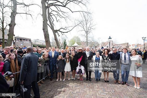 King Willem-Alexander of The Netherlands, Princess Ariane of The Netherlands, Princess Alexia of The Netherlands, Crown Princess Catharina-Amalia of...