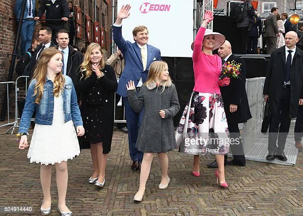 King Willem-Alexander of The Netherlands, Princess Ariane of The Netherlands, Princess Alexia of The Netherlands, Crown Princess Catharina-Amalia and...