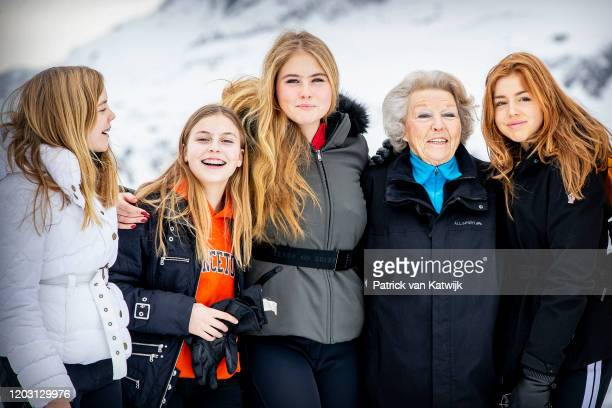 King WillemAlexander of The Netherlands Princess Beatrix of The Netherlands and Princess Amalia of The Netherlands during the annual photo call on...
