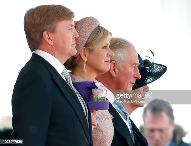 King WillemAlexander of the Netherlands Queen Elizabeth II Queen Maxima of the Netherlands Prince Charles Prince of Wales and Camilla Duchess of...