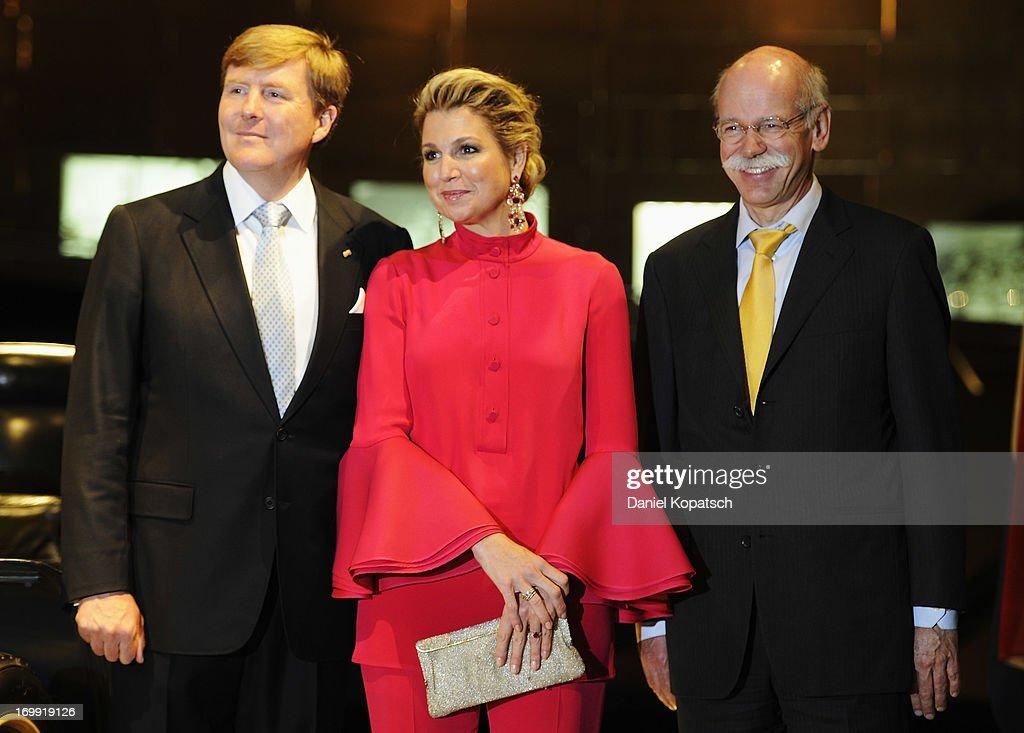 King Willem-Alexander And Queen Maxima Visit Baden-Wuerttemberg : News Photo