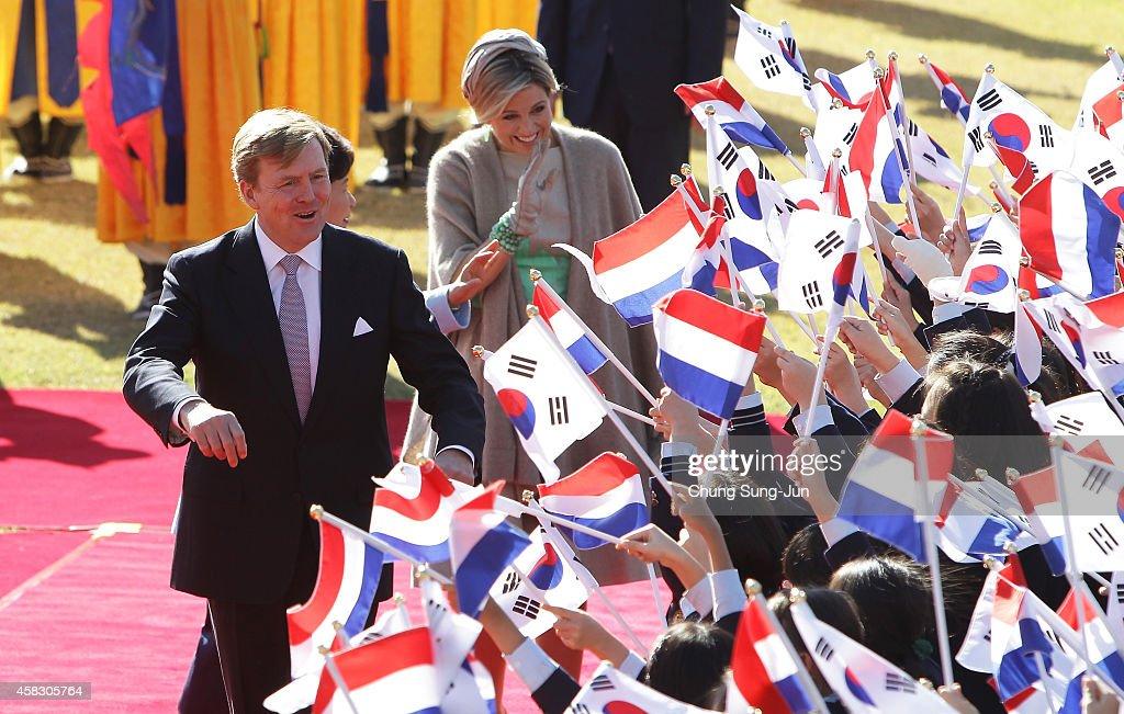 King Willem-Alexander Of Netherland Visits South Korea - Day 2 : News Photo