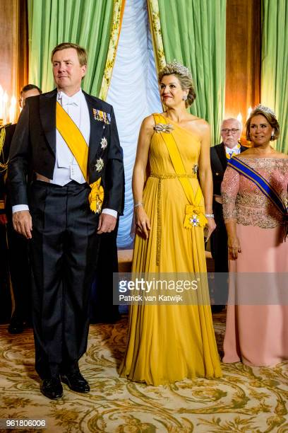 King WillemAlexander of The Netherlands Queen Maxima of The Netherlands and Grand Duchess Maria Teresa of Luxembourg during the official picture at...