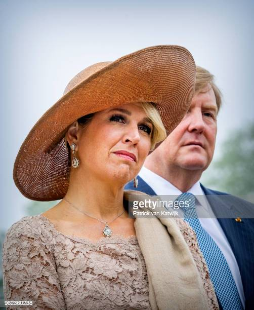 King WillemAlexander of The Netherlands Queen Maxima of The Netherlands attend an official farewell ceremony at the Grand Ducal Palace of Luxembourg...