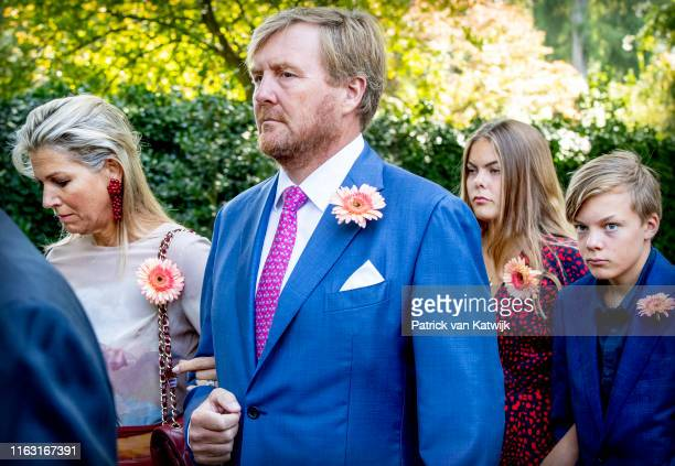 King Willem-Alexander of The Netherlands, Queen Maxima of The Netherlands, Count Claus-Casimir of The Netherlands and Countess Eloise of The...
