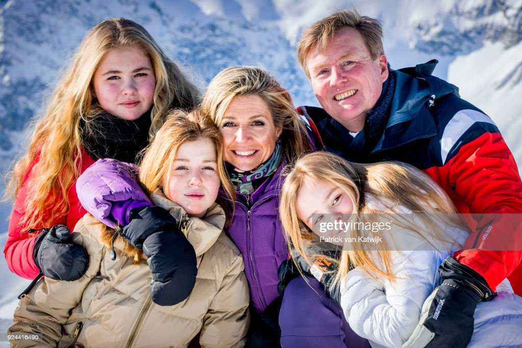 The Dutch Royal Family Hold Annual Winter Photo Call In Lech : Nieuwsfoto's