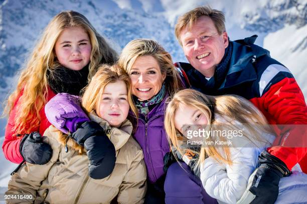 King Willem-Alexander of The Netherlands, Queen Maxima of The Netherlands, Crown Princess Catharina-Amalia of The Netherlands, Princess Alexia of The...