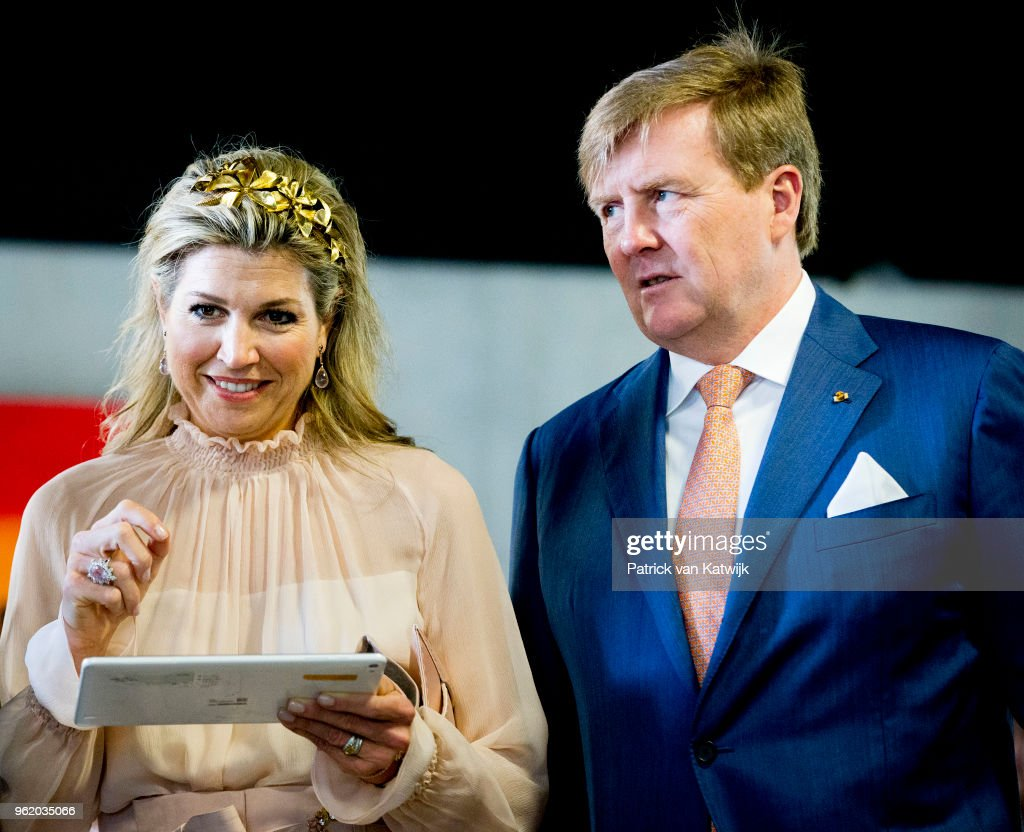 Dutch King and Queen state visit to Luxemburg day two : Nieuwsfoto's