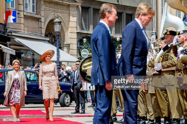 King WillemAlexander of The Netherlands Queen Maxima of The Netherlands Grand Duke Henri of Luxembourg and Grand Duchess Maria Teresa of Luxembourg...