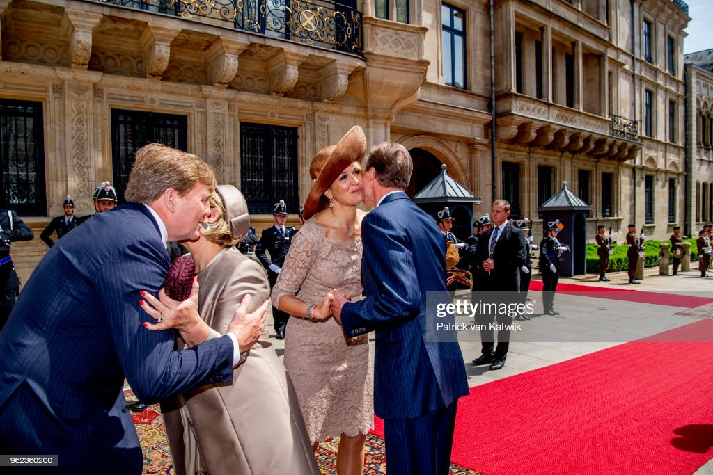 King And Queen Of The Netherlands Visit Luxembourg: Day Three : Nieuwsfoto's
