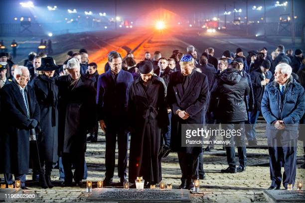 King WillemAlexander of The Netherlands Queen Maxima of The Netherlands King Philippe of Belgium and Queen Mathilde of Belgium lay down candles on...