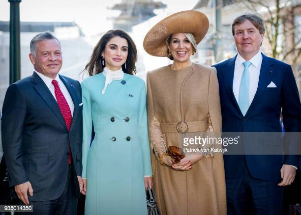 King WillemAlexander of The Netherlands Queen Maxima of The Netherlands King Abdullah of Jordan and Queen Rania of Jordan arrive at theater...