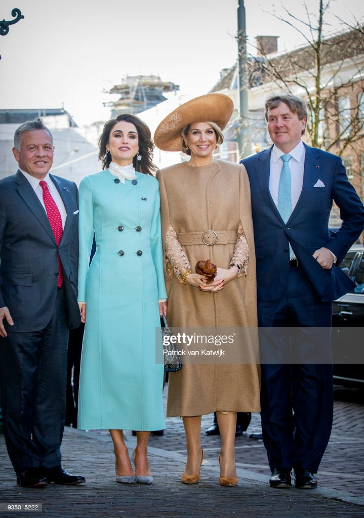 King Abdullah II Of Jordan And Queen Rania Of Jordan On Official Visit In The Hague : Day One : News Photo
