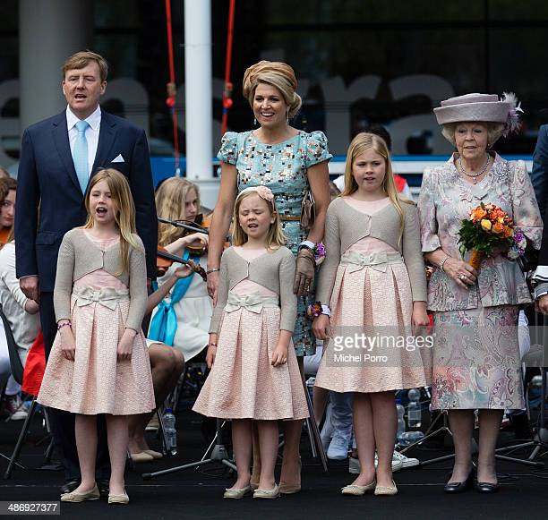 King WillemAlexander of The Netherlands Queen Maxima of The Netherlands LR frontPrincess Alexia of The Netherlands Princess Ariane of The Netherlands...