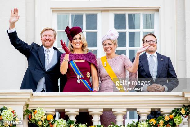King Willem-Alexander of The Netherlands, Queen Maxima of The Netherlands, Prince Constantijn of The Netherlands and Princess Laurentien of The...