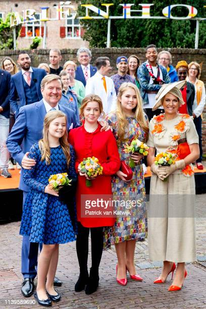 King WillemAlexander of The Netherlands Queen Maxima of The Netherlands Princess Amalia of The Netherlands Princess Alexia of The Netherlands and...