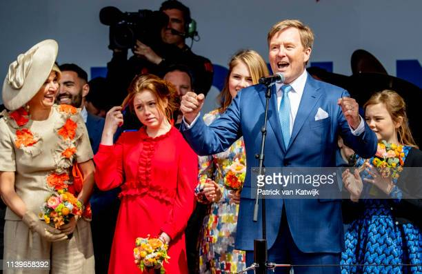 King Willem-Alexander of The Netherlands, Queen Maxima of The Netherlands, Princess Amalia of The Netherlands, Princess Alexia of The Netherlands and...