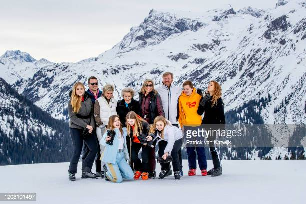 King Willem-Alexander of the Netherlands, Queen Maxima of the Netherlands, Princess Beatrix of the Netherlands, Princess Amalia of the Netherlands,...