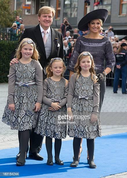 King WillemAlexander of The Netherlands Queen Maxima of The Netherlands Princess Amalia of The Netherlands Princess Ariane of The Netherlands and...