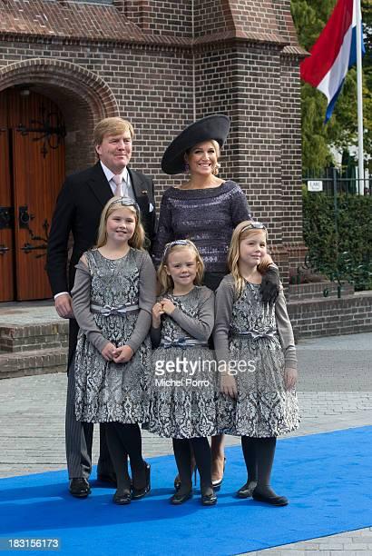 King Willem-Alexander of The Netherlands, Queen Maxima of The Netherlands, Princess Amalia of The Netherlands, Princess Ariane of The Netherlands and...