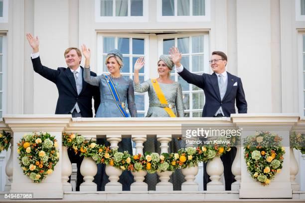 King Willem-Alexander of The Netherlands, Queen Maxima of The Netherlands, Princess Laurentien of The Netherlands and Prince Constantijn of the...
