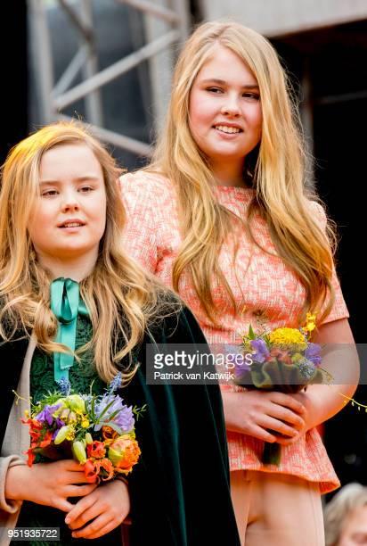 King Willem-Alexander of The Netherlands, Queen Maxima of The Netherlands, Princess Amalia of The Netherlands, Princess Alexia of The Netherlands and...