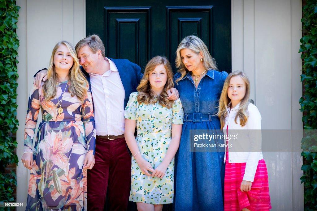 Dutch Royal Family Summer Photo Call In Wassenaar