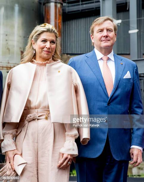 King WillemAlexander of The Netherlands Queen Maxima of The Netherlands visit the Luxemburg University and Campus Belval where they get an tour at...