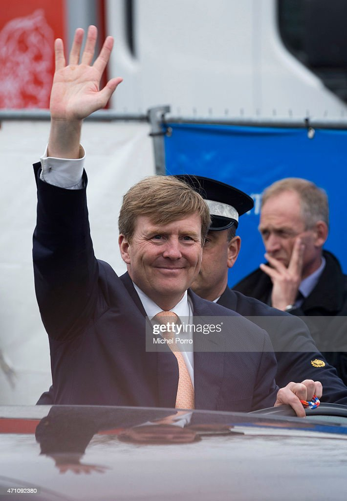 King Willem-Alexander of The Netherlands take part in celebrations marking the 200th anniversary of the kingdom on April 25, 2015 in Zwolle, Netherlands.