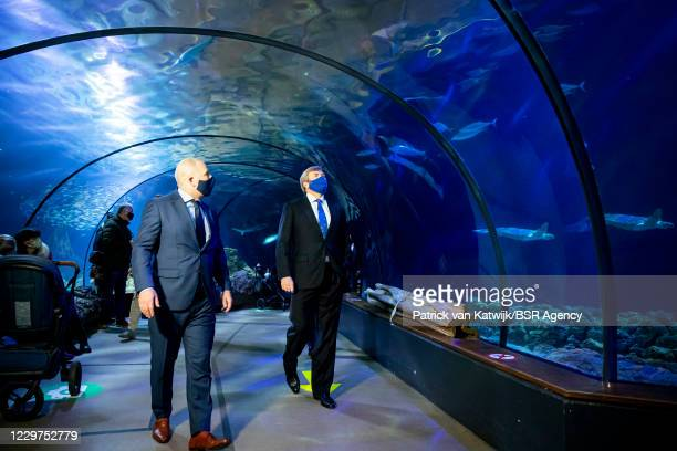 King Willem-Alexander of The Netherlands visits Blijdorp Zoo to get informed about the impact of the corona pandemic on the zoo on November 23, 2020...