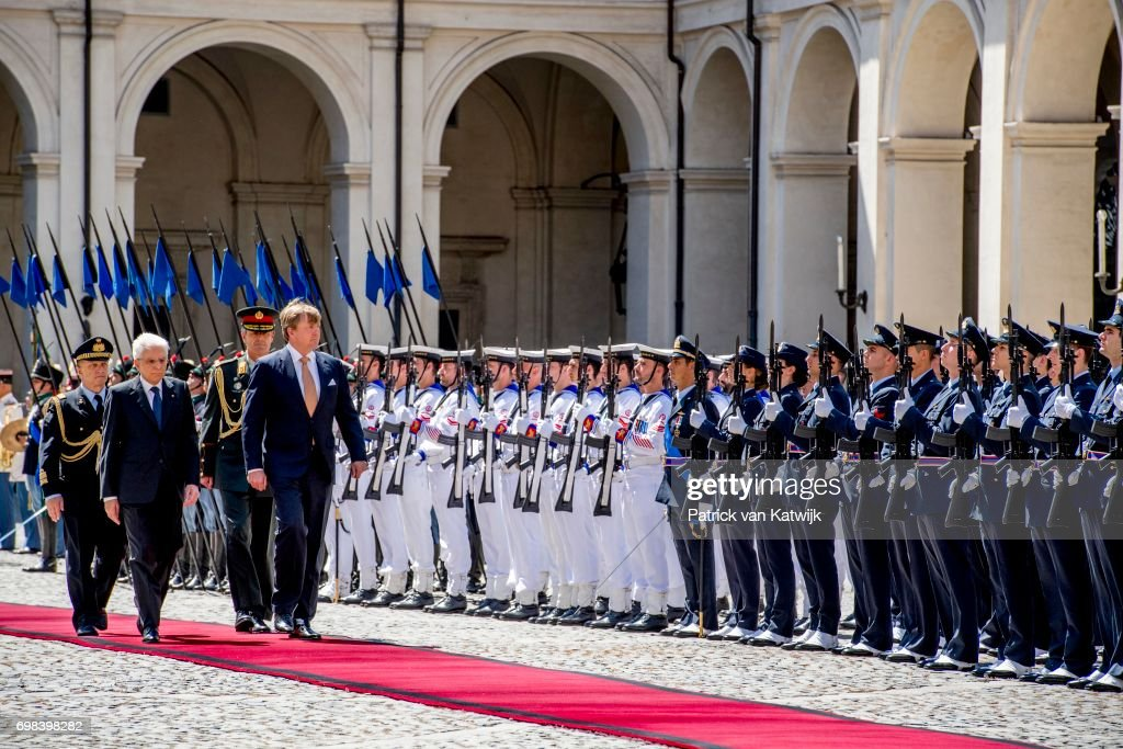 King And Queen Of The Netherlands Visit Italy: Day One : Nieuwsfoto's