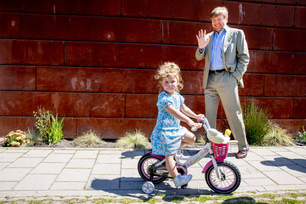 NLD: King Willem-Alexander Of The Netherlands Visits His Neighbourhood By Bicycle
