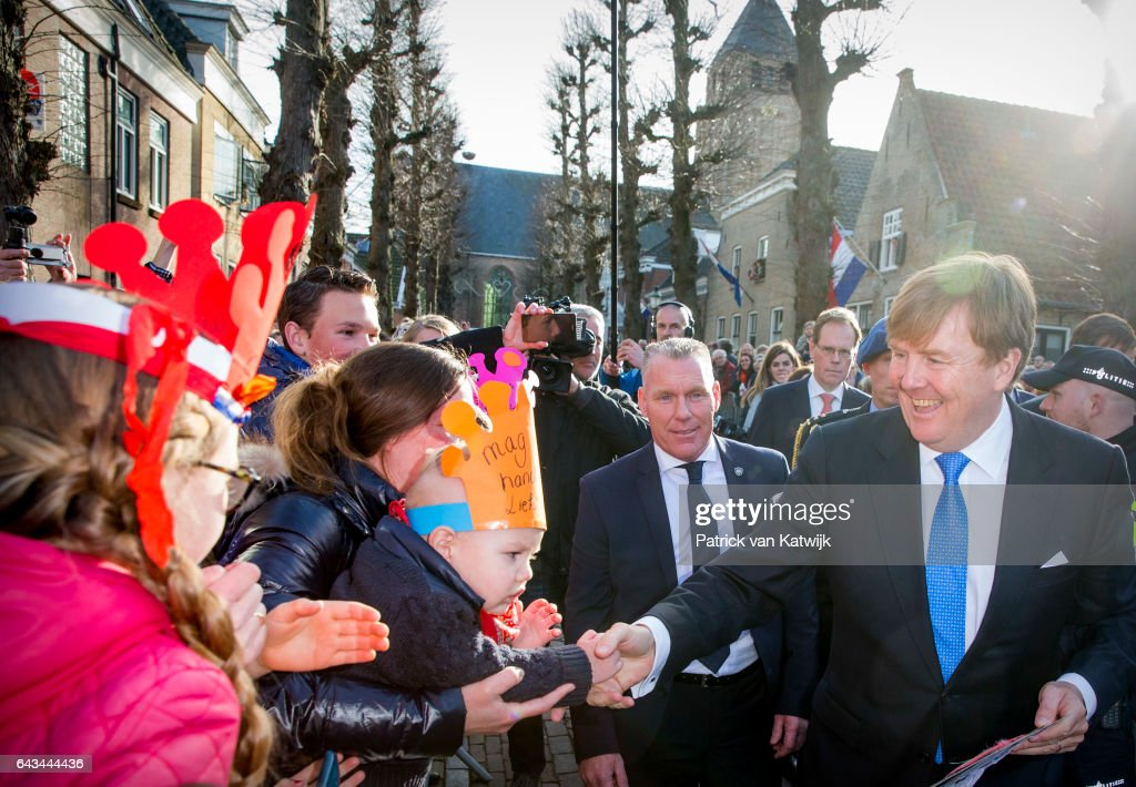 King Willem-Alexander Of The Netherlands And Queen Maxima Of he Netherlands Visit Farms And Villages : News Photo