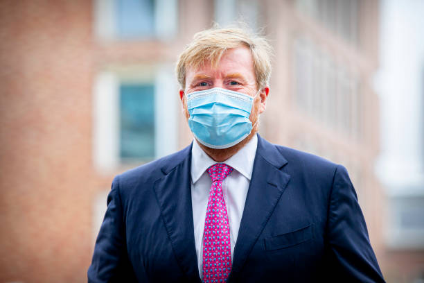 NLD: King Willem-Alexander Of The Nethelands Visits Covid Floor In Westeinde Hospital In The Hague