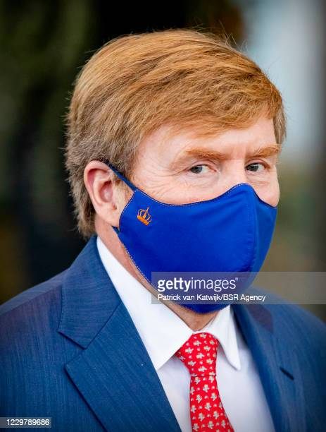 King Willem-Alexander of The Netherlands visits the COVID nursing ward of care organization Thebe and revalidation clinic De MarQon November 25, 2020...