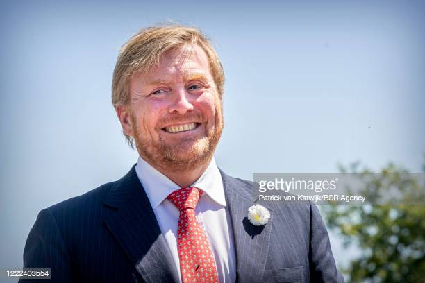 King Willem-Alexander of the Netherlands visits the Dolmen Tombs and cultural stage to support the tourism and cultural sector after the coronavirus...