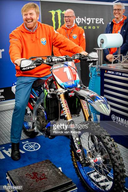 King WillemAlexander of The Netherlands visits the Motocross of Nations at the TT Assen on September 29 2019 in Assen Netherlands