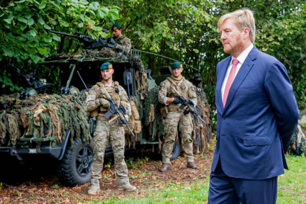 NLD: King Willem-Alexander OF The Netherlands Visit A Military Space In Uden