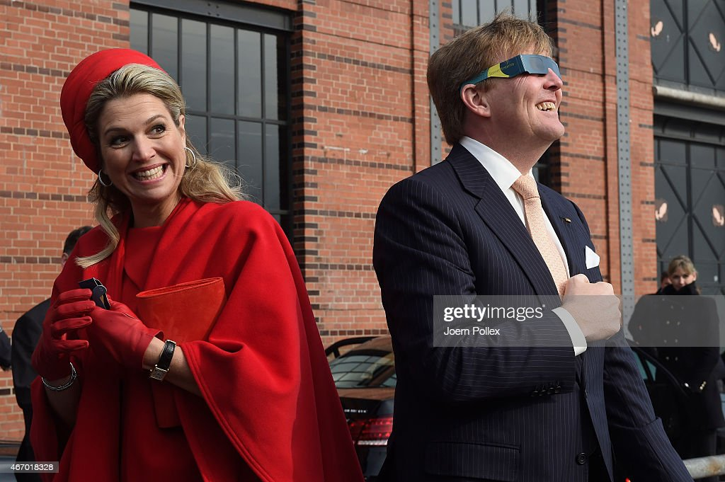 Queen Maxima and King Willem-Alexander of The Netherlands Visit Germany : News Photo