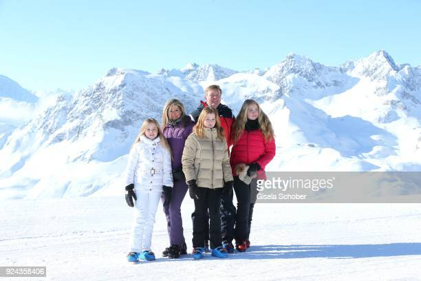 King WillemAlexander of The Netherlands with his wife Queen Maxima of the Netherlands and their daughters Crown Princess CatharinaAmalia of The...