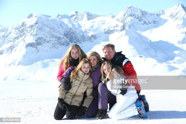 King WillemAlexander of The Netherlands with his wife Queen Maxima of the Netherlands and their daughter Crown Princess CatharinaAmalia of The...