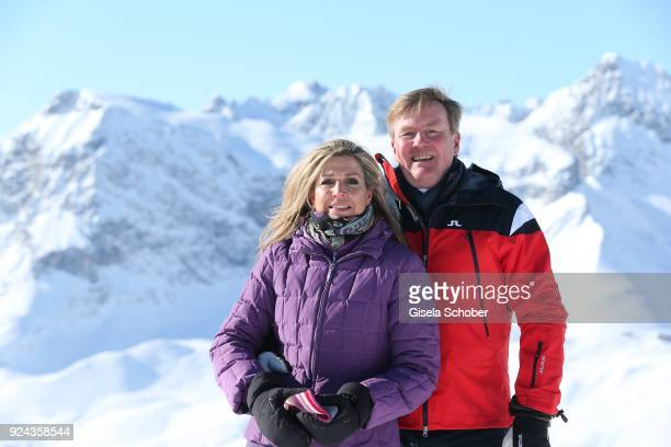King WillemAlexander of The Netherlands with his wife Queen Maxima of the Netherlands during the annual winter photo call on February 26 2018 in Lech...