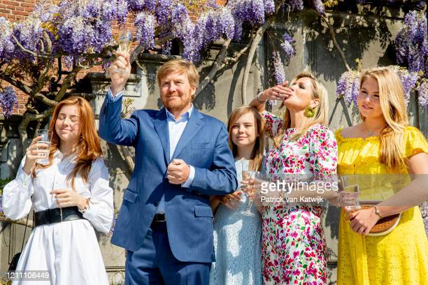 King Willem-Alexander of The Netherlands with Princess Amalia of The Netherlands, Princess Alexia of The Netherlands, Queen Maxima of The Netherlands...