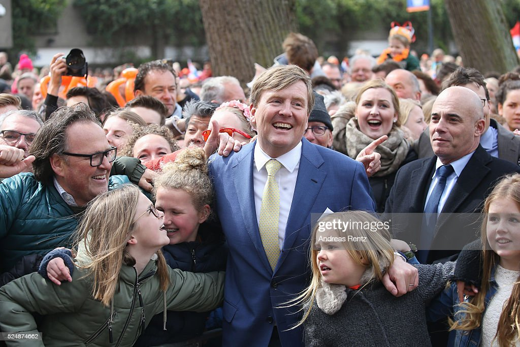 King Willem-Alexander of The Netherlands with Princess Ariane of The Netherlands attend King's Day (Koningsdag), the celebration of the birthday of the Dutch King, on April 27, 2016 in Zwolle, Netherlands. Parties and concerts are held across the Netherlands as members of the Dutch royal family oversee festivities.